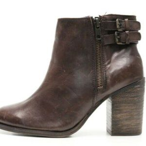 Leather Heeled Booties